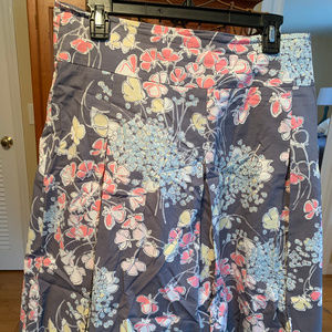 EUC Talbots Grey/Multi-color Skirt Size 10
